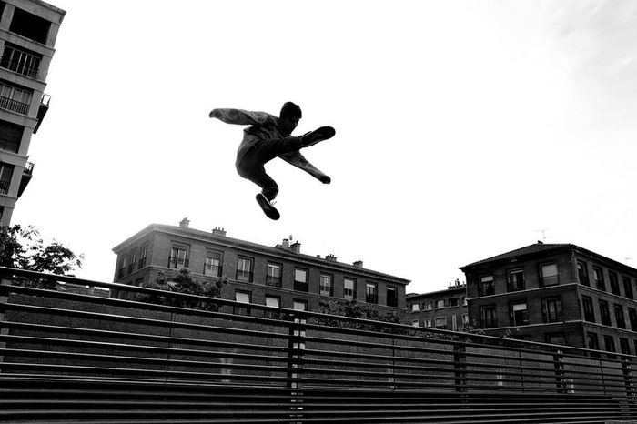 """"""" Magic jump """" Marseille . Silhouette Blackandwhite Popular Photos Awesome Performance Jump Parkour Urban Streetphoto_bw Eye4photography  Photography In Motion"""