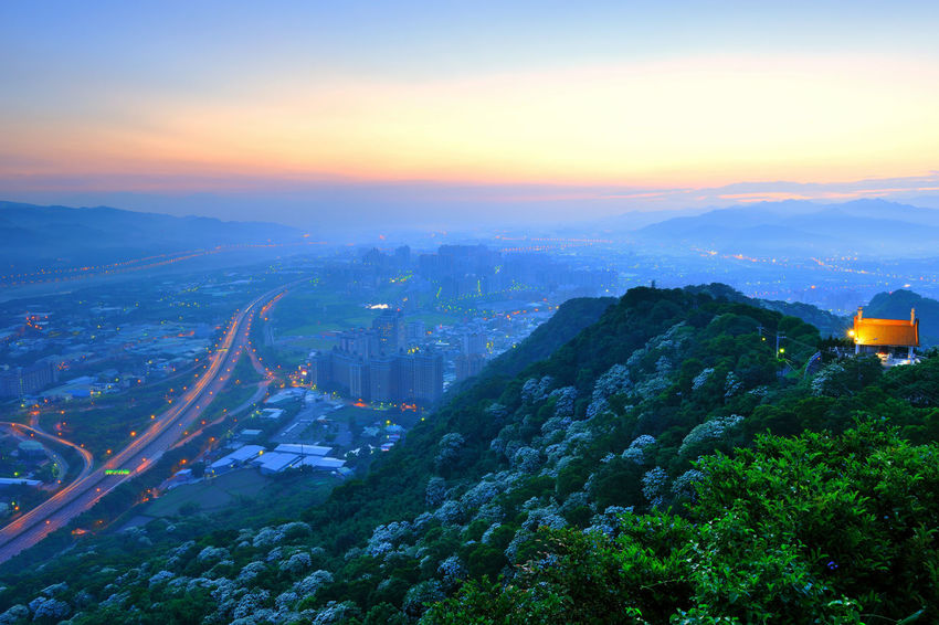 Early morning sun, full of warm hope. Beautiful City Taiwan's New Taipei City Fugueijiao Lighthouse Aerial View Architecture Building Exterior Built Structure City Cityscape Dawn Day Landscape Morning Fog Mountain Mountain Range Nature No People Outdoors Scenics Sky Sunrise Travel Destinations Tree Tung Blossom Warm