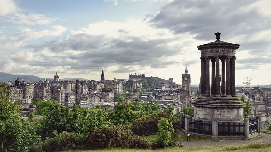 Dougald Stewart Monument At Calton Hill Against Sky In City