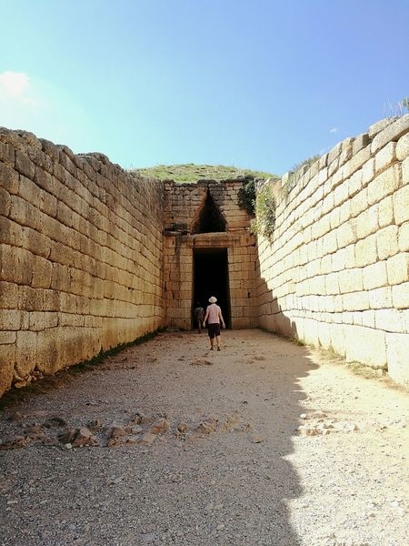 Architecture Ancient Civilization Ancient Architecture The Past Travel Destinations Mycenae Greece Tomb Civilization History Explore Europe Greece. Fortified Wall Travelling