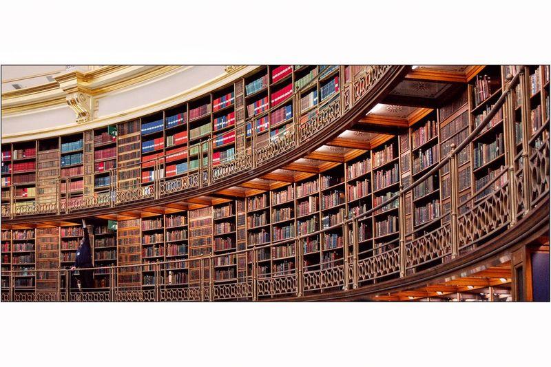 Library London Books Multi Colored London Inside Bibliothek