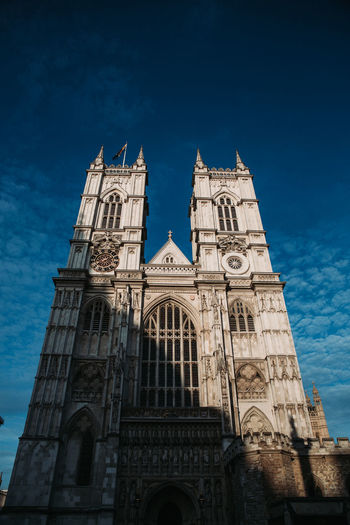 Architecture Low Angle View Building Exterior Sky Built Structure Travel Destinations Building Nature Religion Place Of Worship Belief No People Spirituality Arch History The Past Tower Blue Gothic Style Spire