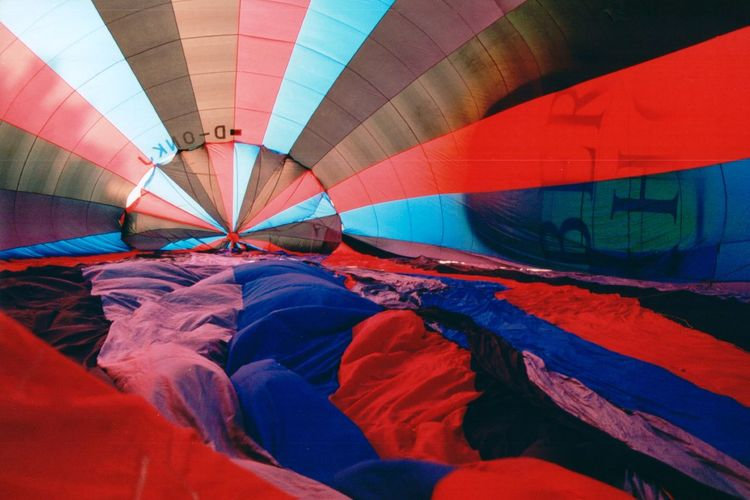 Multi Colored Parachute On Field