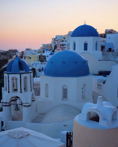 Santorini Church Sea Sea And Sky Oia Thira White Blue Greece Afternoon Chilling Cool