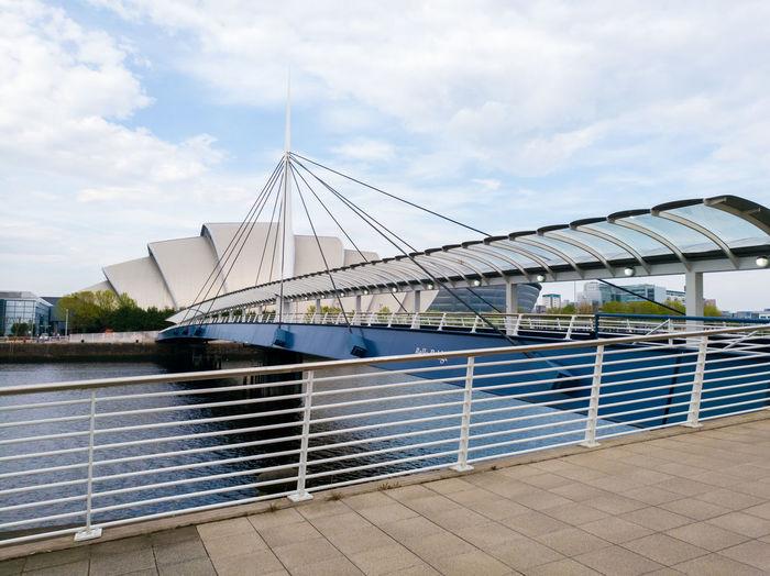 Suspension bridge in glasgow