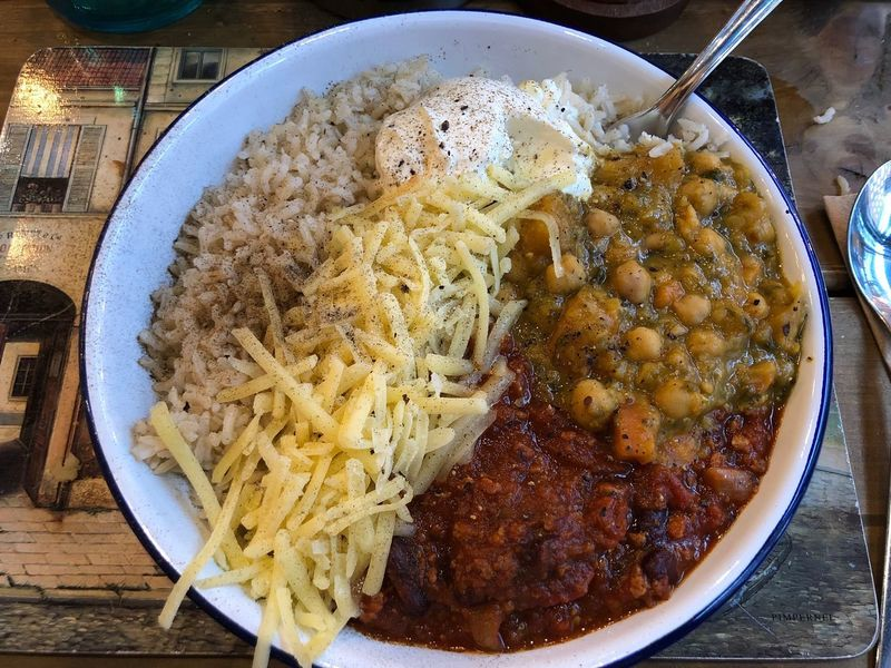 Goodness. Sour Cream Grated Cheese Dahl Chilli Food Food And Drink Ready-to-eat High Angle View Rice - Food Staple Freshness Food Stories Healthy Eating Indoors  Close-up Food Stories