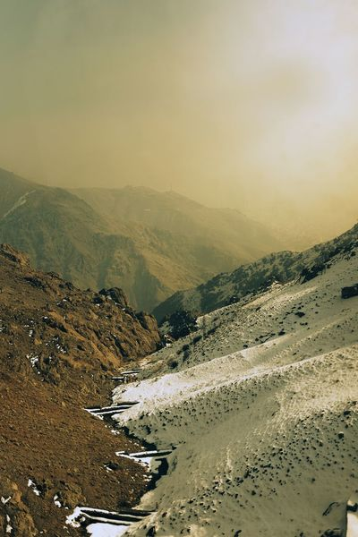 Mountain Scenics Tranquil Scene Tranquility Non-urban Scene Landscape Beauty In Nature Nature Water Mountain Range Remote Physical Geography Fog Sky Cloud - Sky Majestic Geology Outdoors Stream Day Tochal Iran Tehran Tehran Shades Of Winter