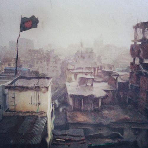 Rainy sculpture of Dhaka. Summer_rain Dhaka Breeze Window_view