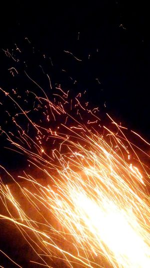 Motion Heat - Temperature Burning Flame Exploding Sky Outdoors Power In Nature Night Close-up Fire