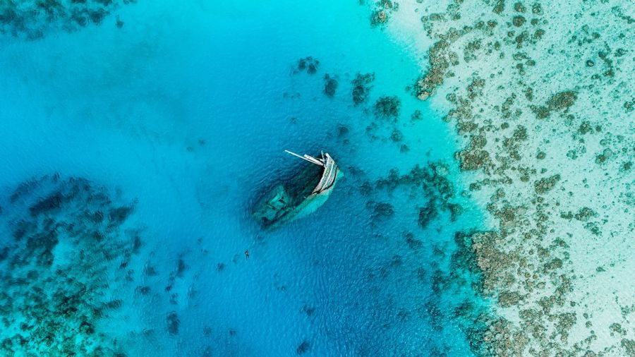 EyeEmNewHere My first time visiting a shipwreck. High Angle View Water Aerial View Day Nature Sea Nautical Vessel Blue Outdoors Beach Beauty In Nature No People UnderSea Shipwreck Maldives Ocean Blue Sea Summer Exploratorium My Best Travel Photo