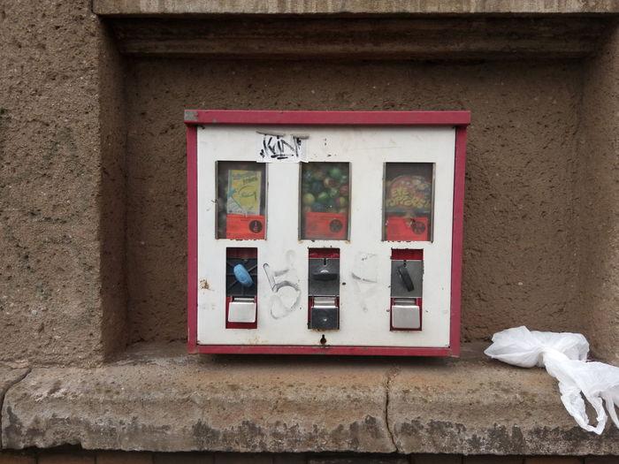 Kaugummiautomaten Kaugummiautomat Gumball Machine Gumball Machines Wall Wand Bubblegummachine Chewing Gum Vending Machine Rot Red Bubblegum Chewing Gum Kaugummi Leipzig Candy
