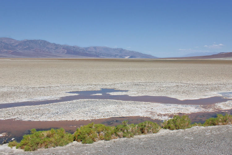Death Valley Death Valley National Park California Bad Water Basin Bad Water Desert Wüste  Kalifornien Overview Panorama Salt Lake Salzsee