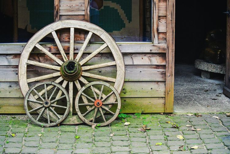 Transportation Wheel Old Wood - Material Wagon Wheel Weathered Outdoors Man Made Object Building Objects Wheels Atmosphere No People Close-up Day Theme Old-fashioned History Exterior Carriage Civilization Historic Bad Condition Residential Structure Deterioration Old Ruin Archaeology Transportation Abandoned The Past