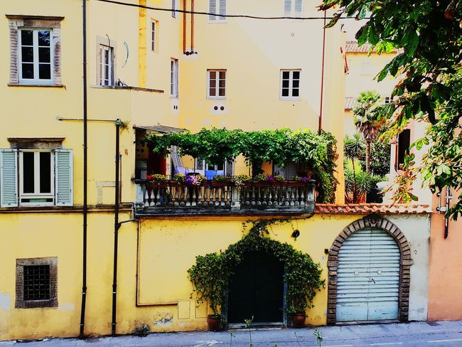 Italy, Lucca City Residential Building Window Façade Shutter Door Architecture Building Exterior Built Structure
