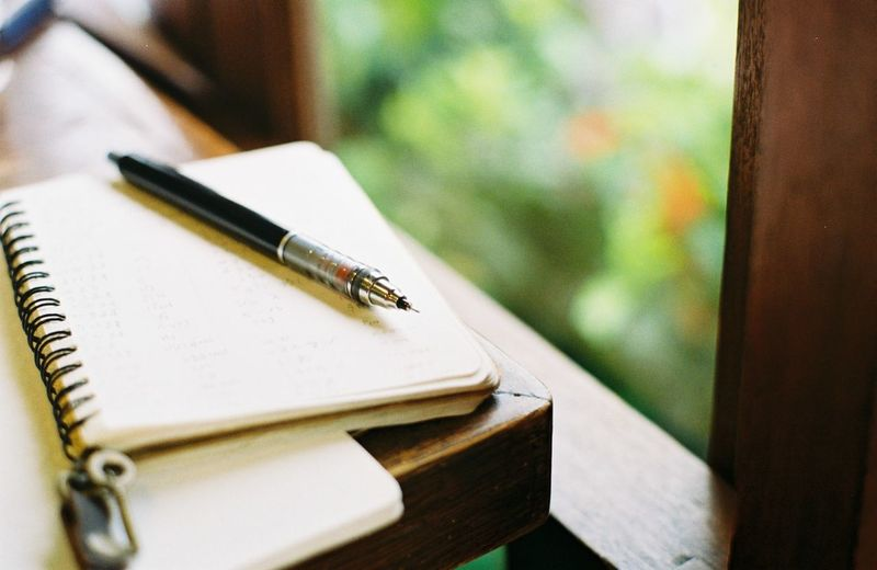 Pen Table Book Still Life No People Note Pad Wood - Material Indoors  Writing Instrument Fountain Pen