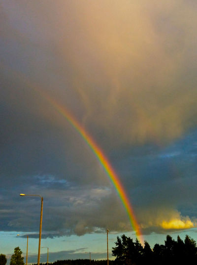 After Rain Background For Quotes Beauty In Nature Contrail Hope Hopes And Dreams Low Angle View Multi Colored Nature No People Outdoors Presentation Background Rainbow Scenics Sky Tranquility Suomi100 Suomifinland100 Equality Pride Finland Summer Peaceful