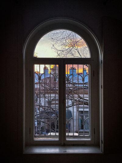 Window of historic building