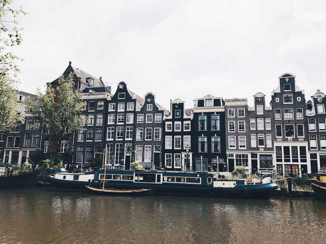 Summer Road Tripping EyeEm Best Shots EyEmNewHere Amsterdam Row House Townhouse Tiled Roof  Gondola Dutch Culture Shore Old Town Housing Development TOWNSCAPE Canal