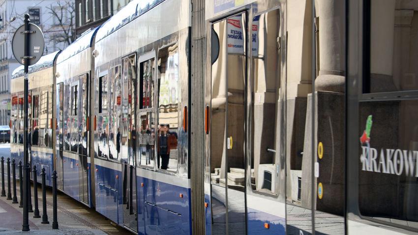 City Day Outdoors Reflexions Tram Transportation