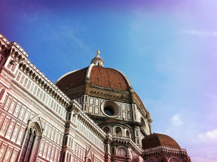 Low Angle View Of Florence Cathedral In Italy