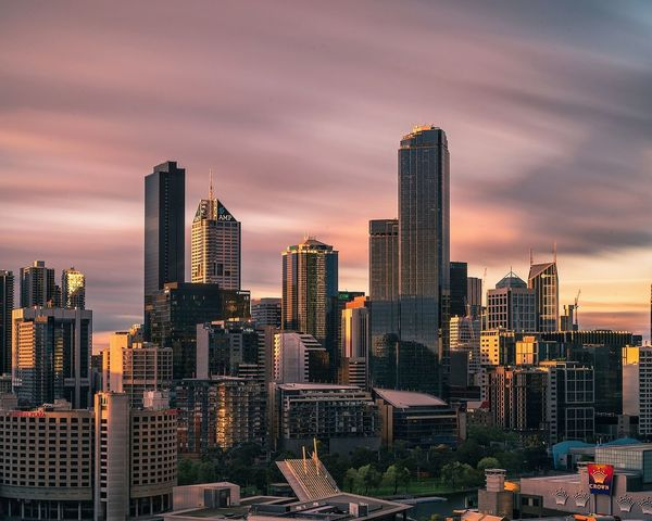 EyeEm Selects Skyscraper Dramatic Sky Urban Skyline Sunset Architecture Sky Cityscape Downtown District Cloud - Sky Night City Life Business Office Building Exterior Melbourne City Long Exposure Australia Sony Melbournephotos Travel Destinations EyeEm Melbourne Building Exterior Dramatic Sky Arts Culture And Entertainment City Street