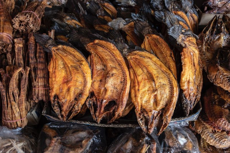 dried fish ASIA Dried Fish  No People Full Frame Food Food And Drink Still Life Backgrounds Freshness For Sale Close-up Market
