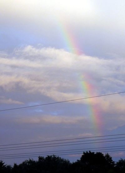 Rainbow At Cloudy Sky For My Friends On Eyeem Colour Of Life View From The Window... Relaxing Light Up Your Life Sky_collection Rainbow🌈 Rainbow Sky