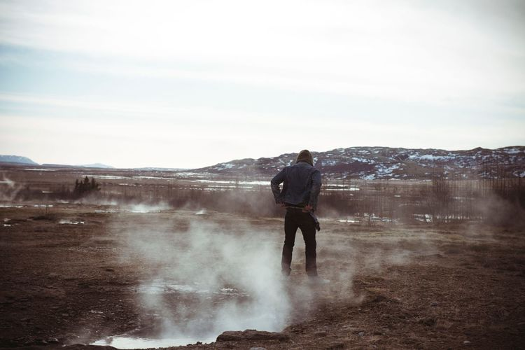 Iceland and me Beard Longhair Cold Cold Temperature Iceland Kingofthenorth Jeanslover Jeans Water Men Beauty In Nature Nature Outdoors