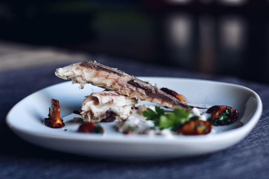 Mackrel and chanterelles. Chanterelles Mushroom Mackrel Fish EyeEm Selects Plate Food And Drink No People Food