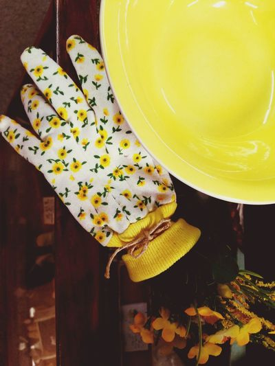 Indoors  Yellow No People Close-up Food And Drink Food Freshness Healthy Eating Day Antique Shopping Colorful Garden Decor Garden Love Gardening Equipment Glove Yellow Bowl Flowers,Plants & Garden