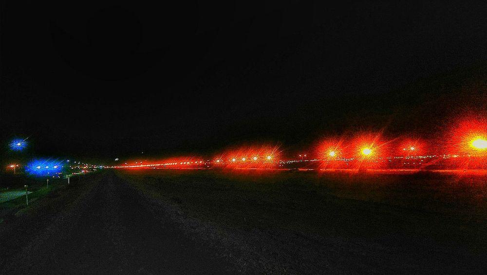 Borderline Night Illuminated No People Fronteranorte Fronteramexico-usa Rio Bravo Ciudad Juárez