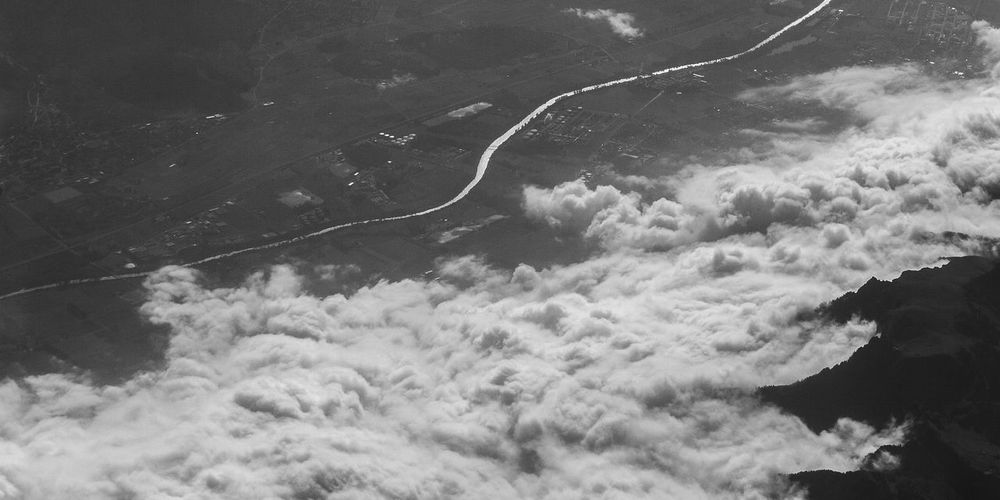 Aerial view 049 Aerial Shot Cloudscape Danube Dramatic Sky Earth Surface Heaven Panoramic View Textured  Aerial Landscape Aerial Photography Aerial View Atmospheric Mood Background Beauty In Nature Black And White Clouds Danube River Elevated View Ground High Angle View Landscape View From Above View From An Airplane Viewpoint Wallpaper