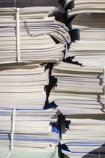 Full Frame Shot Of Stacked Books