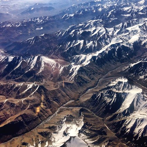 Aerial View Of Mountain Range