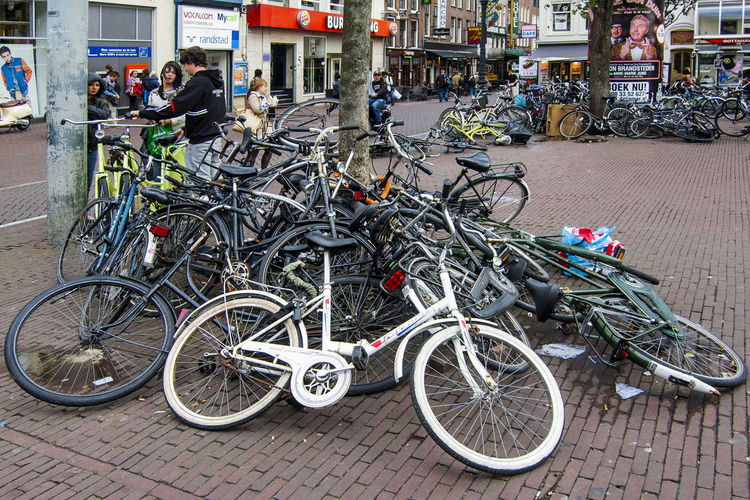 Parked bicycles in Amsterdam Bicycle Bicycles Bicycles In Amsterdam Bicycles Parked Bike Bikes Day Holland Hollandie Holland❤ Holländisches Viertel Lieblingsteil Mode Of Transport Netgerland Netherland Netherlands Netherlands ❤ Outdoors Parked Bicycles Tire Transportation Adventures In The City