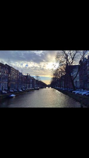 Amsterdam Autumn Canal Dutch House