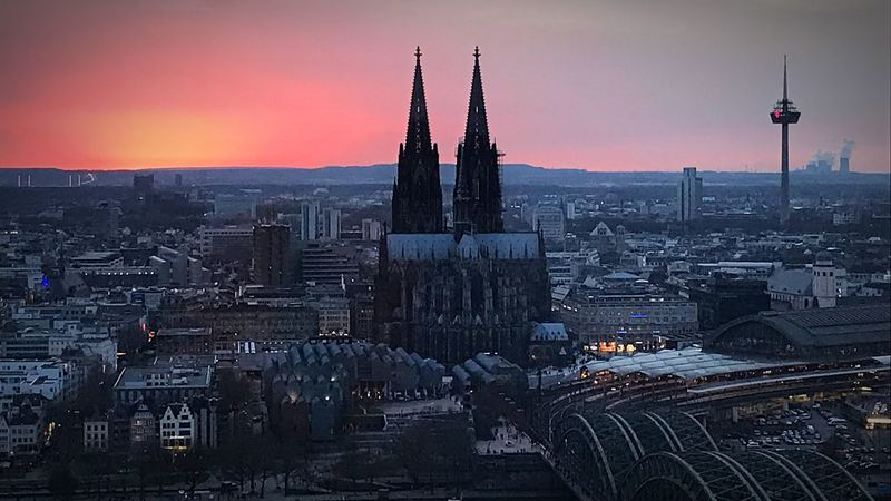 Sunset Cityscape City No People Sky Cologne Cologne Cathedral Atomic Bomb Atomic Explosion