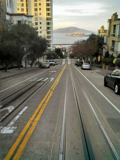 San Francisco Cable Car On The Way Travel California Alcatraz Island Riding Golden Hour Capture The Moment Enjoying Life Natural Light Mobile Photography Lobuephotos Motorola Eyeem Photography Eye4photography  Eyeem California Smartphonephotography From My Point Of View Tourist Destination My Year My View Paint The Town Yellow