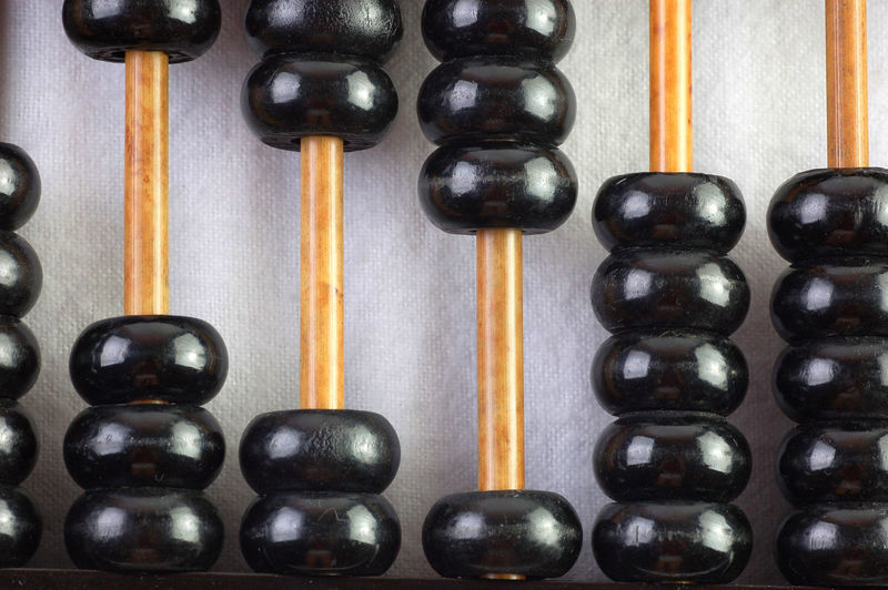 Close-up of black abacus