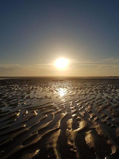 Sunset in the coast of Andalucia, Spain. 🌅 Andalucía Andalusia España SPAIN Oceano Atlantic Ocean Summertime Lowtide  Bajamar Water Low Tide Sea Sunset Beach Sand Horizon Backgrounds Summer Coastline Ocean Coast Bay