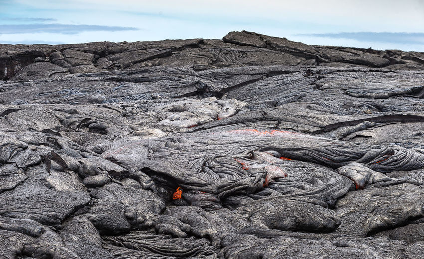 View of molten lave