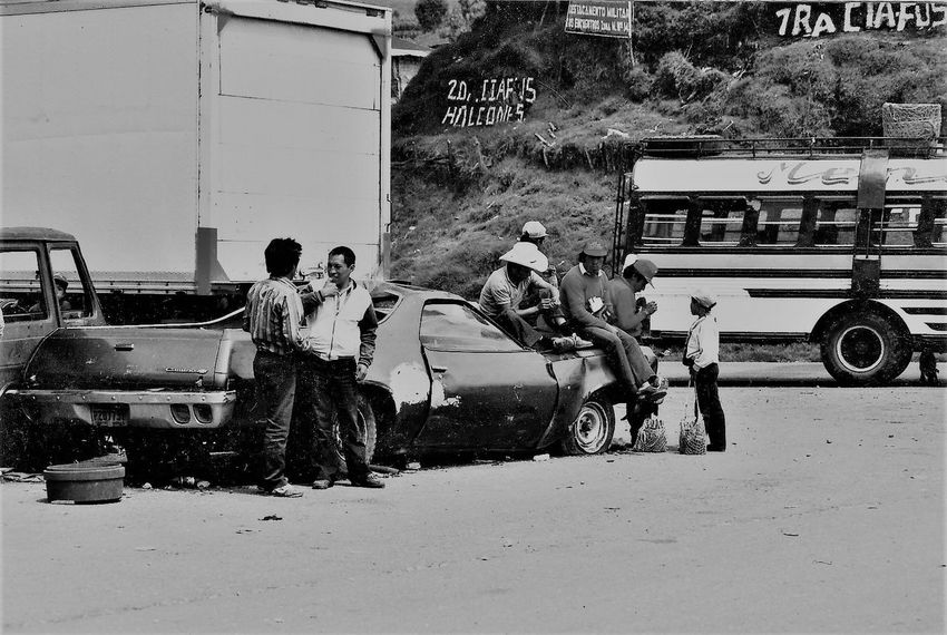 1992 Adult Broken Car Car Day Guatemala Mode Of Transport Outdoors People Road Street Transportation