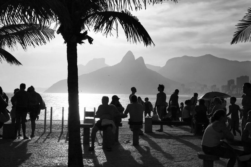 Nature Mountain Outdoors People Day Brazil Riodejaneiro Morrodoisirmãos City Fine Art Photography Decoration