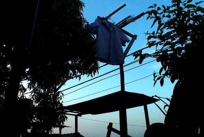 white clothes Black Bluesky Cart Clearsky Clothes Clothesline Wood Dailylife Day INDONESIA Kampung Baru Kepulauanriau Ketanjungpinanglah Laundry Lowangleview Nopeople Outdoors Silhouette Sunset Tanjungpinang Tree Village White Wonderfulindonesia Wonderfulkepri  Wood - Material