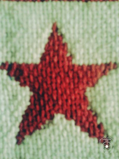 Wool Red Pattern Knitted  Close-up No People Day
