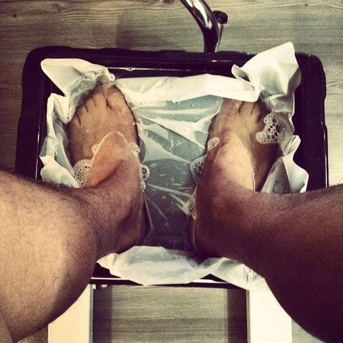 So my massive feet just about fit! Gotmynailsdid Pedi RomanHoliday Igers Italia Rome