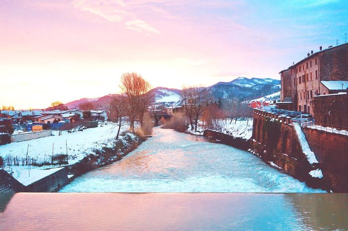 Metauro all'alba Winter Sky Water Snow Cold Temperature Outdoors Nature