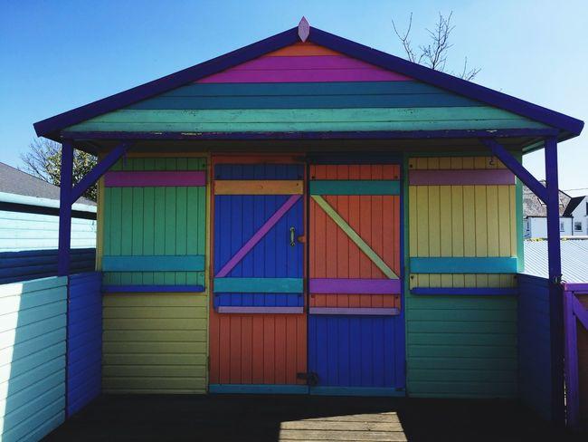 Outdoors Beach Hut Multi Colored United Kingdom England🇬🇧