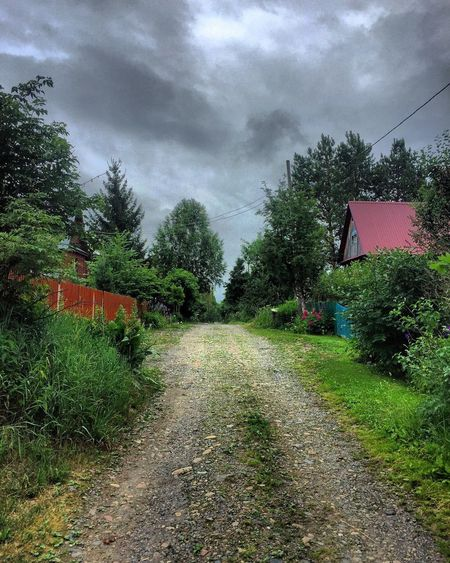 Russia Countryside Springtime Spring Summerinrussia Springincontryside Green Nature Road Darksky Sky