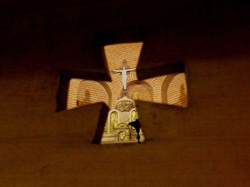 Cruz Ermita en Castillo Castle Cristo Crucifix España